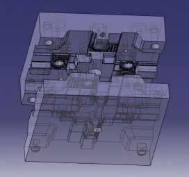 Mould 3D construction and clamping device construction
